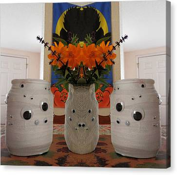 3 Mirrored Mummies  Canvas Print