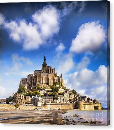 Mont St Michel Normandy France Canvas Print