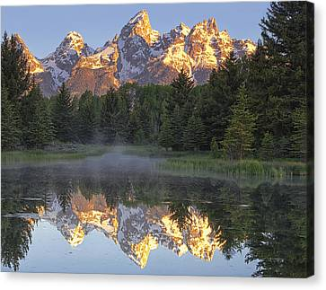 Mountain Canvas Print - Morning Reflection by Andrew Soundarajan