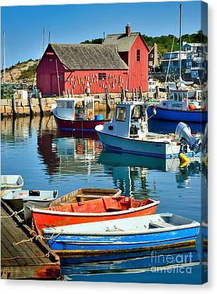 Fishing Shack Canvas Print - Motif Number One Rockport Lobster Shack Maritime by Jon Holiday