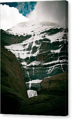 Mount Kailash Western Slope Home Of The Lord Shiva Canvas Print by Raimond Klavins