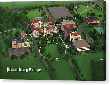 Mount Mary College  Canvas Print by Rhett and Sherry  Erb