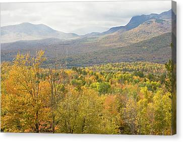 Maine Mountains Canvas Print - Mountains In Fall Mount Blue State Park Weld Maine by Keith Webber Jr