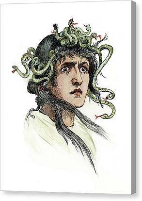 Mythology Medusa Canvas Print