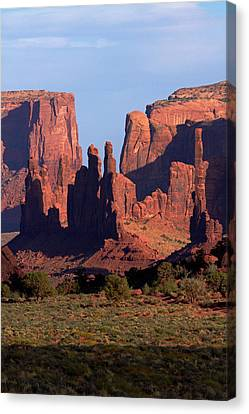 Navajo Nation, Monument Valley, Yei Bi Canvas Print by David Wall