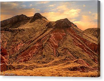 Navajo Nation Series Along 87 And 15 Canvas Print by Bob and Nadine Johnston