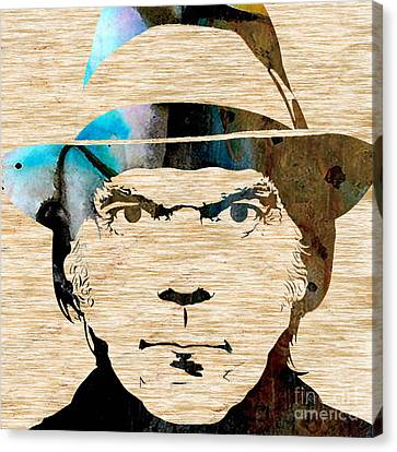Neil Young Canvas Print by Marvin Blaine