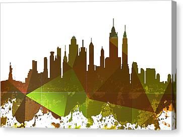 New York City Skyline Canvas Print by Celestial Images