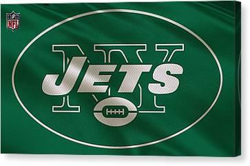 New York Jets Uniform Canvas Print by Joe Hamilton