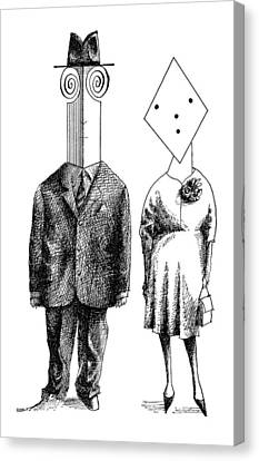New Yorker May 5th, 1962 Canvas Print by Saul Steinberg