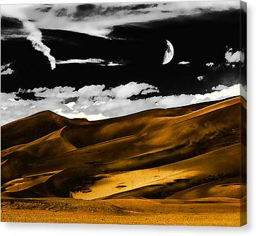 Night At The Great Sand Dunes Canvas Print
