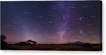 Carina Nebula Canvas Print - Night Sky Over Mount Kilimanjaro by Babak Tafreshi