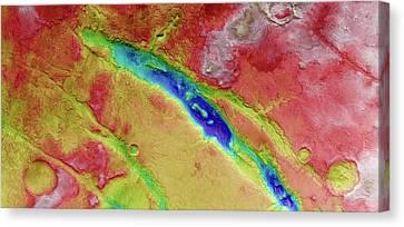 Nili Fossae Canvas Print by European Space Agency/dlr/fu Berlin (g. Neukum)