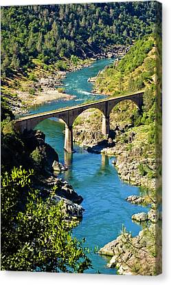 Canvas Print featuring the photograph No Hands Bridge by Sherri Meyer