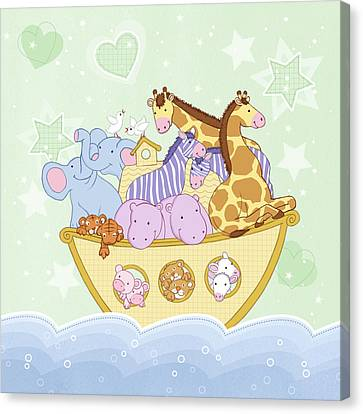 Noah's Ark Canvas Print by Amanda Francey