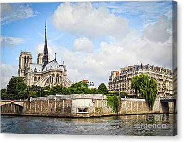Notre Dame De Paris Canvas Print by Elena Elisseeva