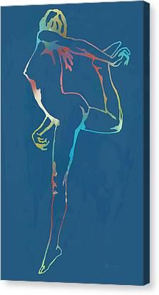 Nude Dancing Pop Stylised Art Poster Canvas Print by Kim Wang