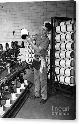 Nylon Production, 1950s Canvas Print by Hagley Archive