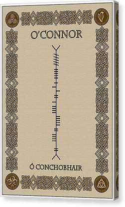 Canvas Print featuring the digital art O'connor Written In Ogham by Ireland Calling