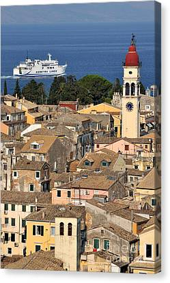 Ships Canvas Print - Old City Of Corfu by George Atsametakis