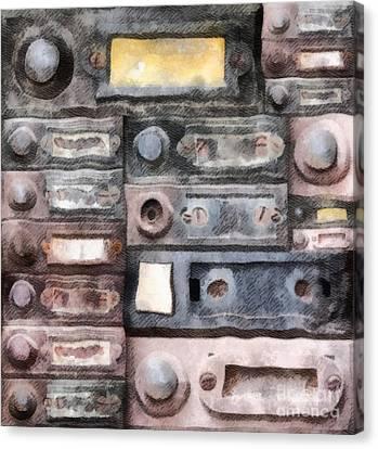Old Doorbells Canvas Print by Michal Boubin