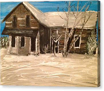 Canvas Print featuring the painting Old House by Paula Brown