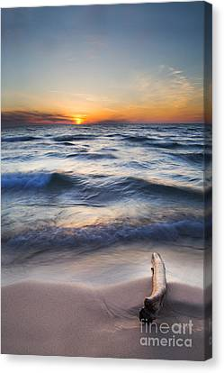Onekama Sunset Canvas Print by Twenty Two North Photography