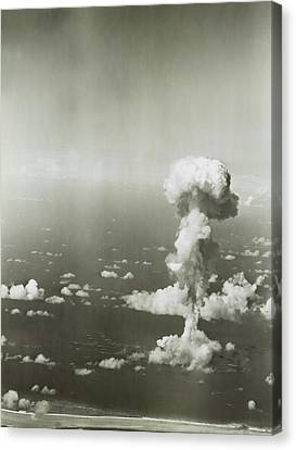 Atomic Bomb Canvas Print - Operation Crossroads Atom Bomb Test by Library Of Congress