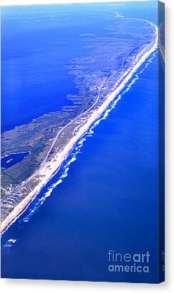Outer Banks Aerial Canvas Print by Thomas R Fletcher