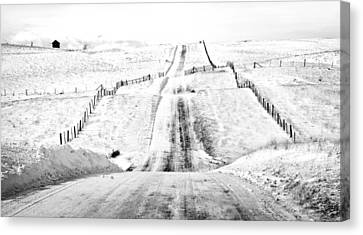 Over The Hill And Far Away Canvas Print by Theresa Tahara