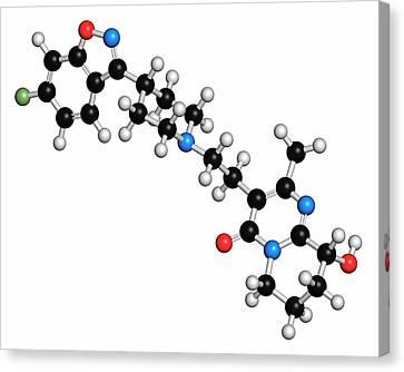 Bipolar Canvas Print - Paliperidone Drug Molecule by Molekuul