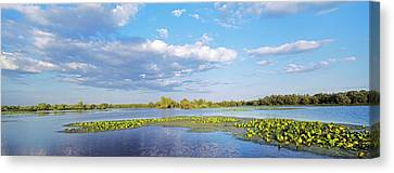 Panorama Of Lakes And Channels Canvas Print by Martin Zwick