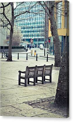 Park Bench Canvas Print by Tom Gowanlock