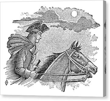 Paul Reveres Ride Canvas Print by Granger