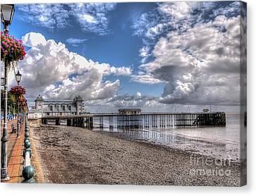 Penarth Pier 3 Canvas Print by Steve Purnell