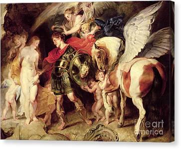 Perseus Liberating Andromeda Canvas Print by Peter Paul Rubens