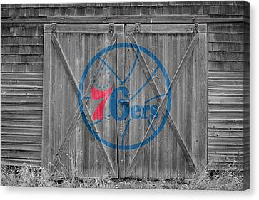 Philadelphia 76ers Canvas Print by Joe Hamilton