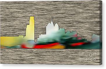 Philadelphia Skyline Canvas Print by Marvin Blaine