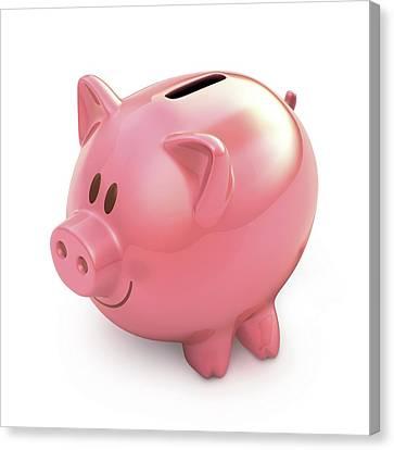 Piggy Bank Canvas Print - Piggy Bank by Ktsdesign