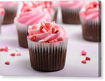 Pink Cupcakes Canvas Print by Brandon Bourdages
