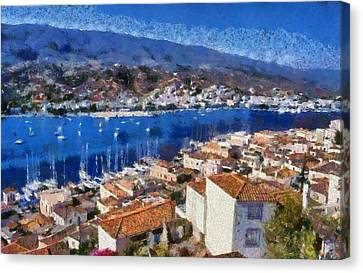 Journey Canvas Print - Poros Island by George Atsametakis