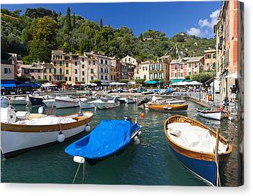 Portofino Harbour Canvas Print by Sebastian Wasek