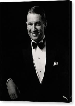 Portrait Of Maurice Chevalier Canvas Print by Edward Steichen