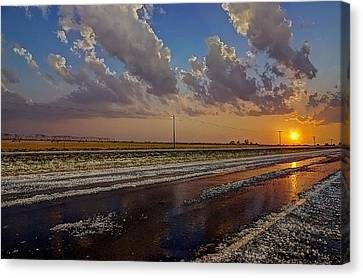 Post Hail Paradise Canvas Print