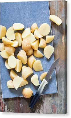 Potatoes Canvas Print by Tom Gowanlock