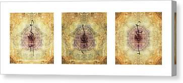 Prayer Flag Triptych  Canvas Print by Carol Leigh
