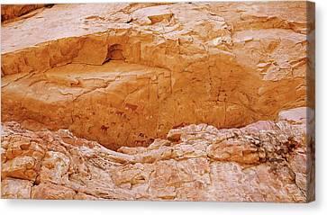 Prehistoric Rock Paintings Canvas Print