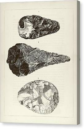 Prehistoric Stone Tools Canvas Print by Middle Temple Library