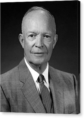 President Dwight Eisenhower  Canvas Print by War Is Hell Store