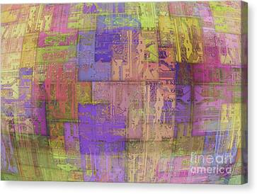 Printed Circuit Canvas Print by Michal Boubin